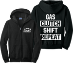 Chevrolet Zip Up Hoodie Chevy American Muscle Camaro Car Zipper Sweatshirt