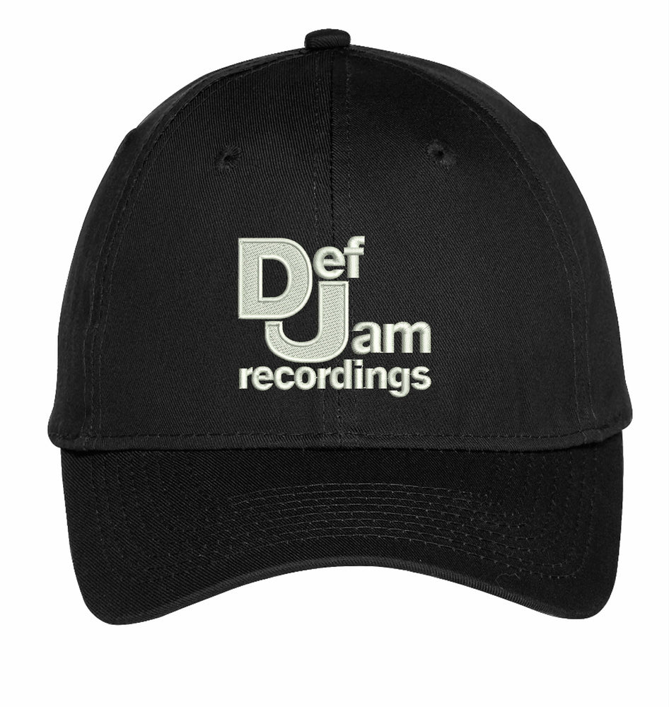 Def Jam Recordings Embroidery Hat Custom Embroidered Adjustable Hats