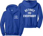Detroit VS Everybody Zip Up Hoodie Eminem Big Sean Music Zipper Sweatshirt