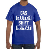Gas Clutch Shift Repeat T-Shirt Audi Acura JDM Turbo Mechanic Drift Cars Shirt