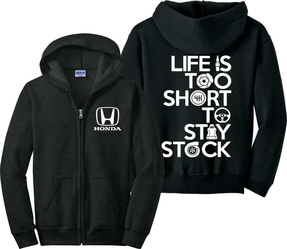 Honda Zip Up Hoodie Racing Lancer Civic EVO JDM Race Car Zipper Sweatshirt