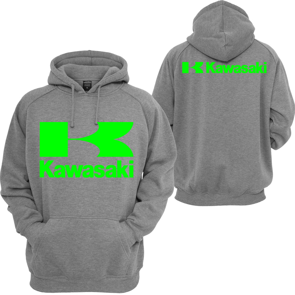 Kawasaki Racing Pullover Hoodie Sport Ninja Bike JDM Turbo Motocross Hooded Sweatshirt