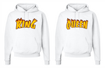 King Queen Thrasher Hoodies Couples Matching His Hers Sweatshirts