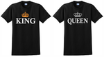 King and Queen T Shirt Crowns Couples Matching His Hers Tee Shirts