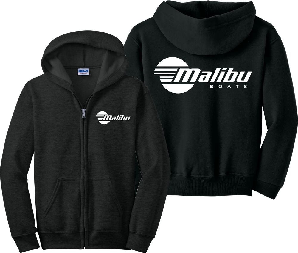 Malibu Boats Zip Up Hoodie Wake Board Skier JDM Zipper Sweatshirt
