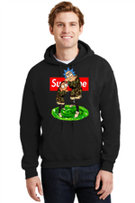 Rick and Morty Hoodie Supreme Thrasher Magazine Cartoon Network Sweatshirt