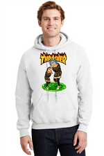 Rick and Morty Hoodie Thrasher Magazine Cartoon Network Sweatshirt