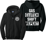 VW Zip Up Hoodie Volks Wagen Dope Golf GTI JDM Race Car Zip-Up Sweatshirt