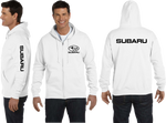 Subaru Zip Up Hoodie WRX Race Sport Cars JDM STI Turbo Zip-Up Sweatshirt