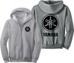 Yamaha Zip Up Hoodie Racing Custom Race Bikes JDM Zipper Sweatshirt