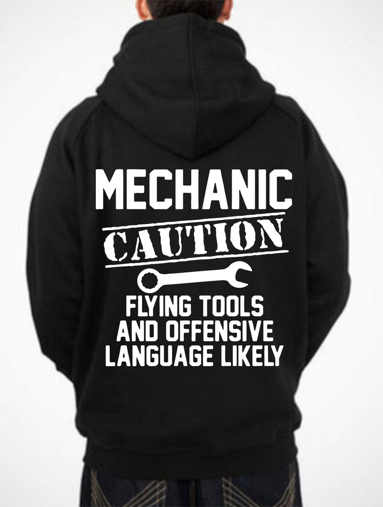 Caution Flying Tools Mechanic Hoodie JDM Race Shirt V8 American Cars Sweatshirt
