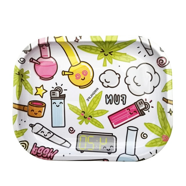 Backwoods Rolling Trays Rick Morty Simpsons Rolling Paper Tray 420 Cookies Cartoon Swisher Trays