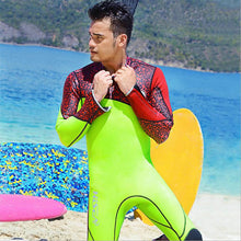 "The ""Neon Leopard"" Wetsuit - Red/Green"
