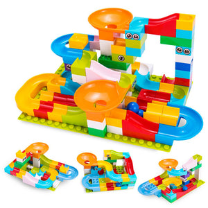 MARBLE RUN RACE BALL TRACK BUILDING BLOCKS