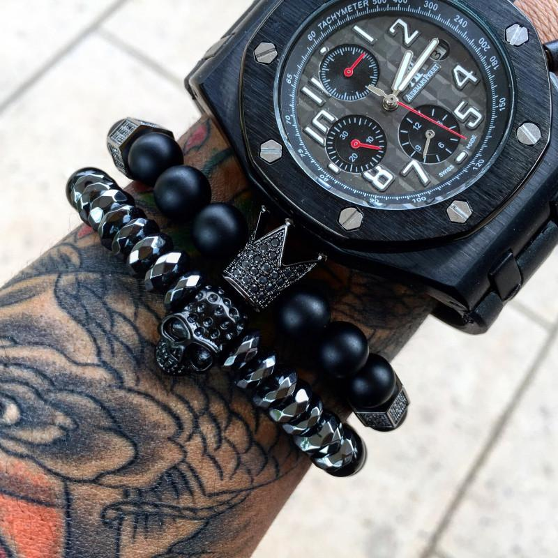 All Black Everything Crown - OlympBoss Bracelet