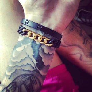 Black and Gold elastic Bracelet - OlympBoss Bracelet