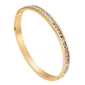 Crystal Gold Bangle 24K Gold plated - OlympBoss Bracelet