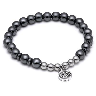 Evil Eye Rubber Bead - OlympBoss Bracelet