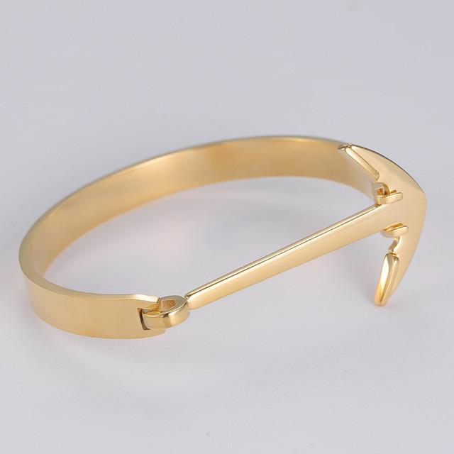 Luxury Anchor Bracelet Amphitrite 18K Gold plated - OlympBoss Bracelet