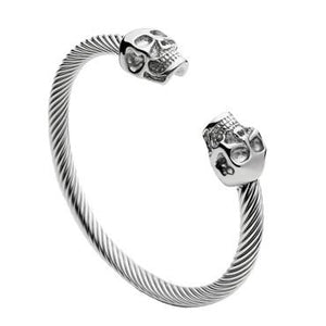 Skull Bangle 316L stainless steel - OlympBoss Bracelet