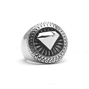 Diamond Geometric Ring