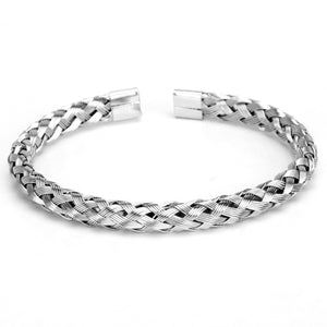Woven Titanium Steel Bangle