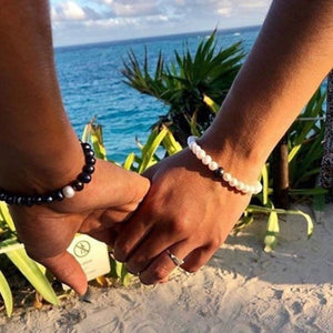 Distance couple bracelets