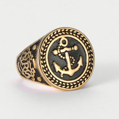 Anchor Ring 316L Stainless Steel - OlympBoss Rings
