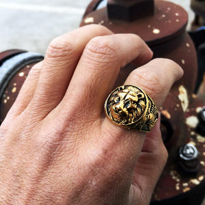 Lion Head Ring 316L Stainless Steel - OlympBoss Rings