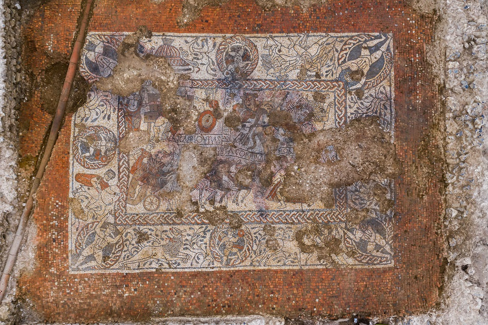 The Boxford Mosaic from above