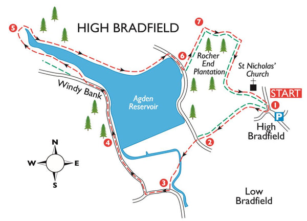 High Bradfield Map