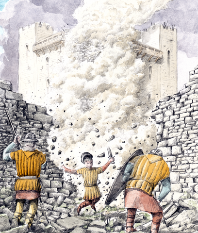 The fall of Rochester Castle
