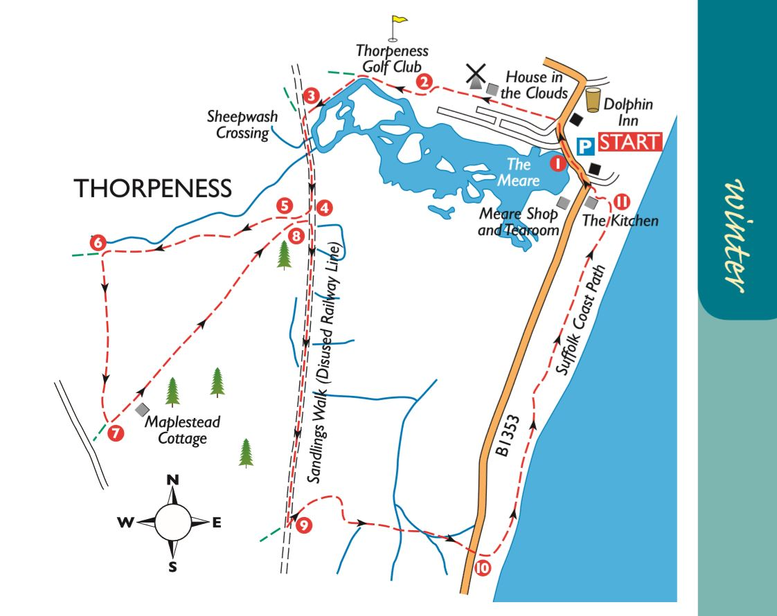 Thorpeness Boxing Day Walk - Free Map