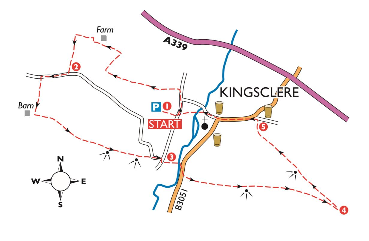 Hampshire Boxing Day Walk - Watership Down, Free Map