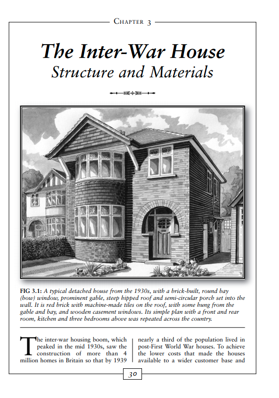 1930s House Explained the inter-war house structure & materials
