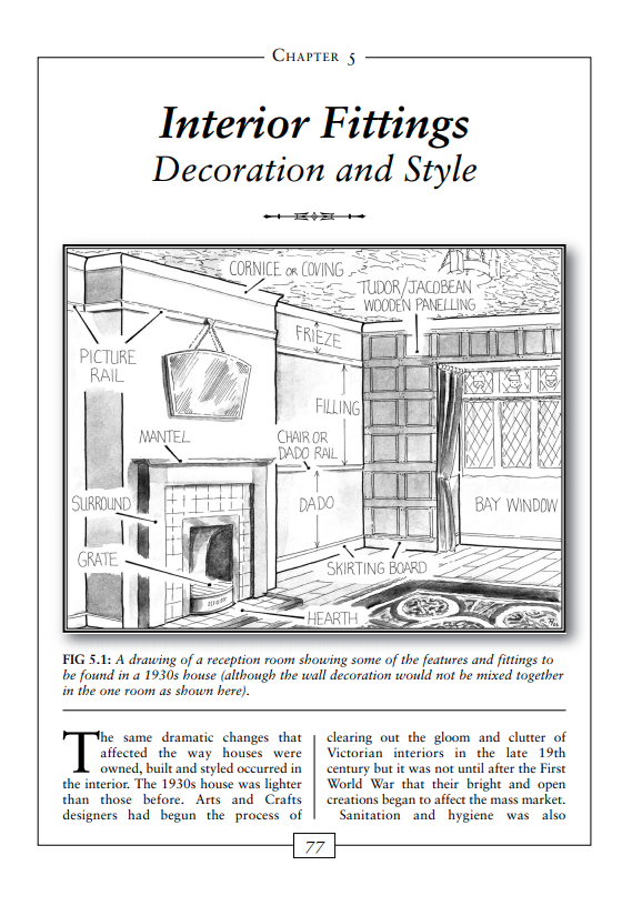 1930s House Explained decoration & style, interior fittings