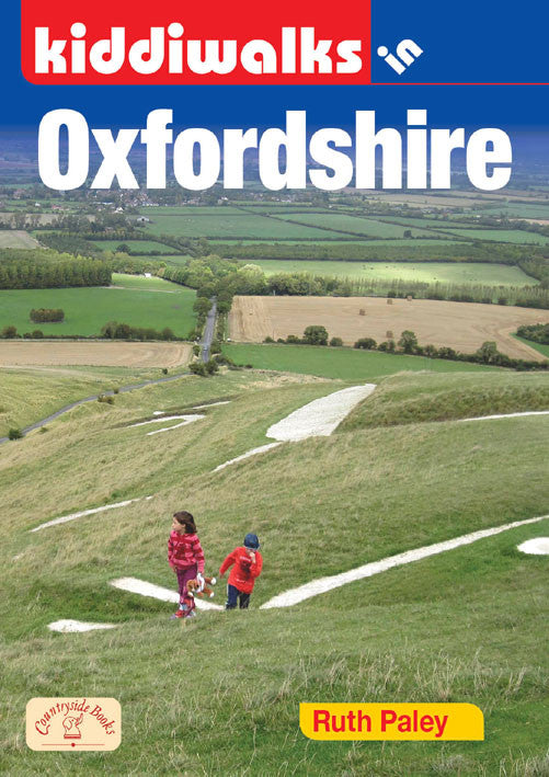 Kiddiwalks in Oxfordshire book cover. 20 family walks.
