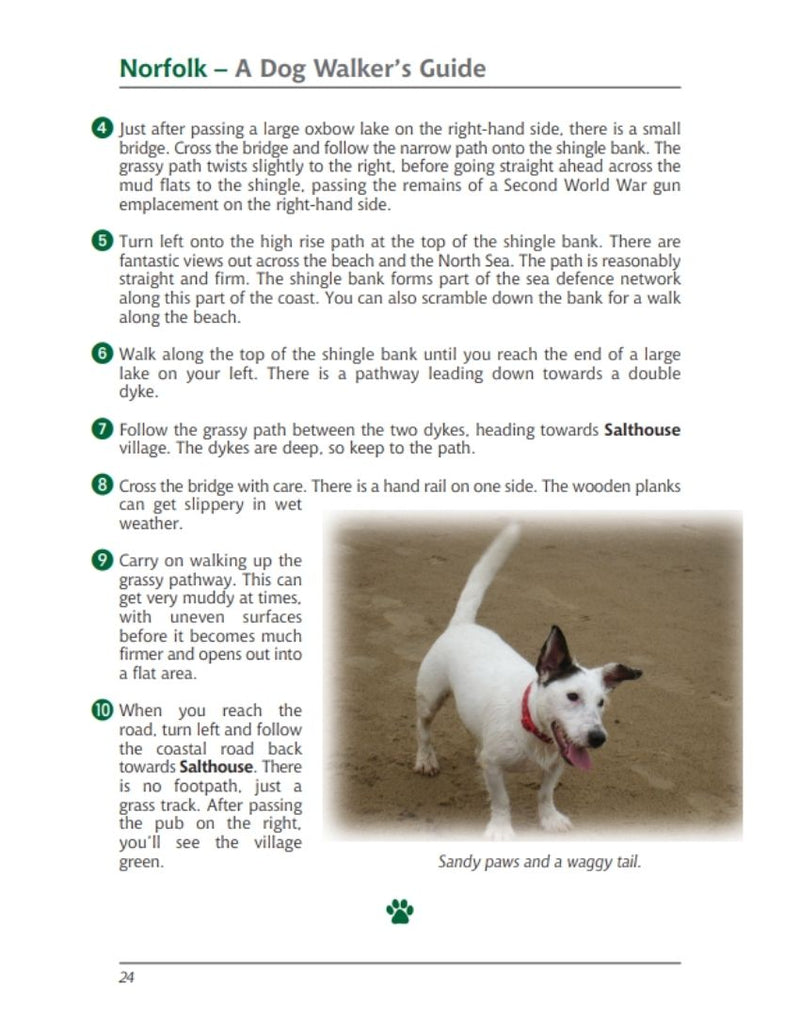 Norfolk A Dog Walker's Guide book interior content