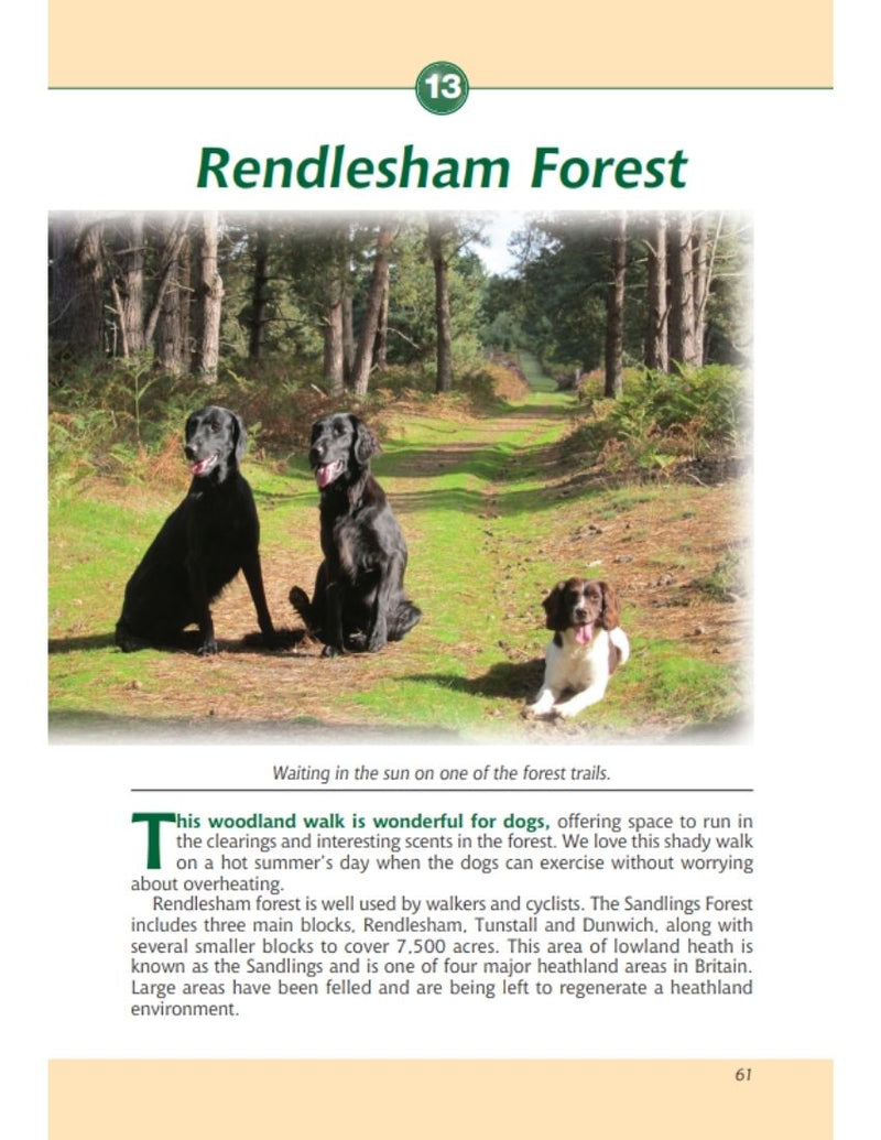 Suffolk A Dog Walker's Guide book interior content
