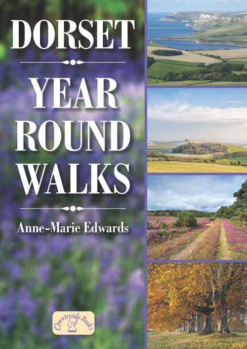 Dorset Year Round Walks book cover. Countryside walks for all seasons.