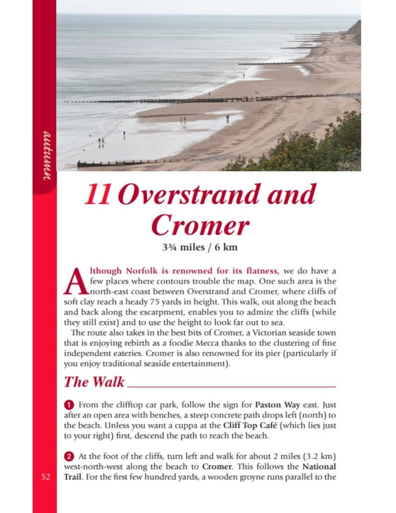 Norfolk Year Round Walks Overstrand & Cromer autumn walk