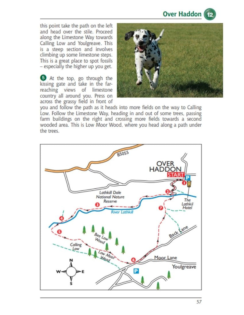 Derbyshire & the Peak District Dog Friendly Pub Walks Over Haddon walk and map