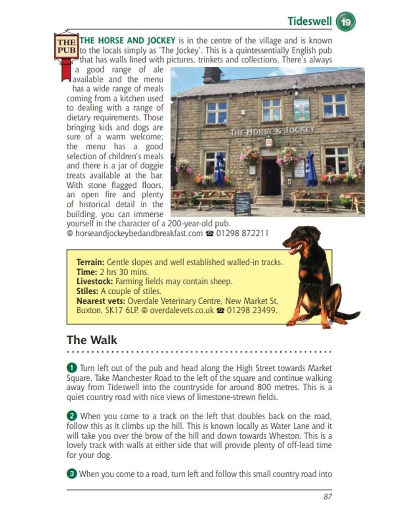 Derbyshire & the Peak District Dog Friendly Pub Walks Horse & Jockey pub Tideswell