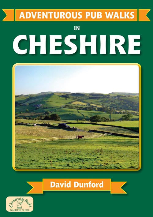 Adventurous Pub Walks in Cheshire book cover. Walking guide of best walks in the county.