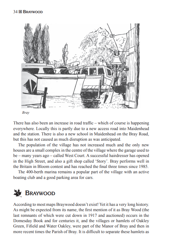 The Berkshire Village Book Braywood Bray entry