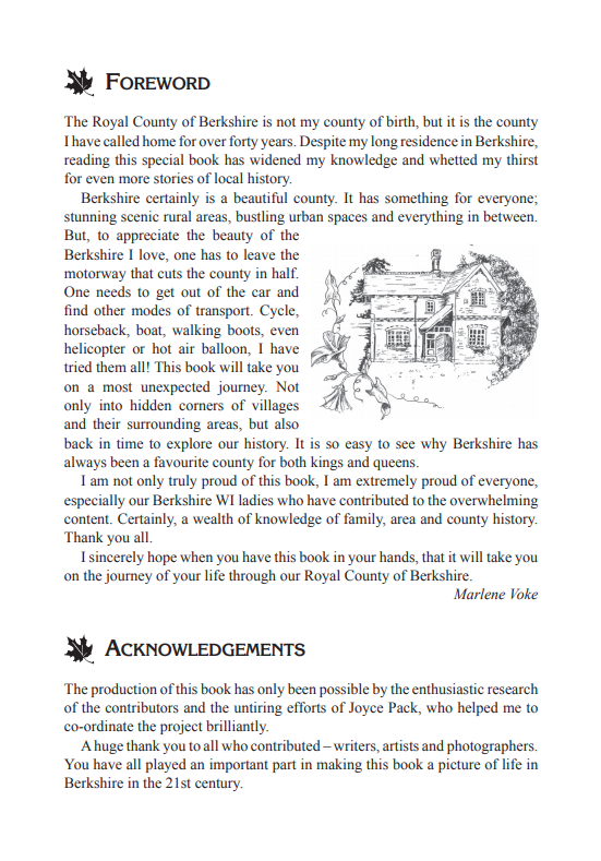 The Berkshire Village Book Foreword and Acknowledgements