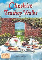 Cheshire Teashop Walks book cover. Walking guide.