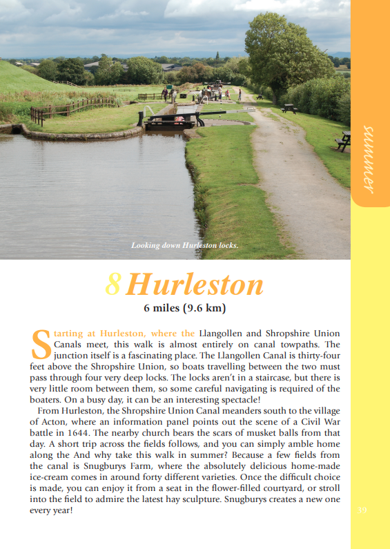 Cheshire Year Round Walks Hurleston summer walk