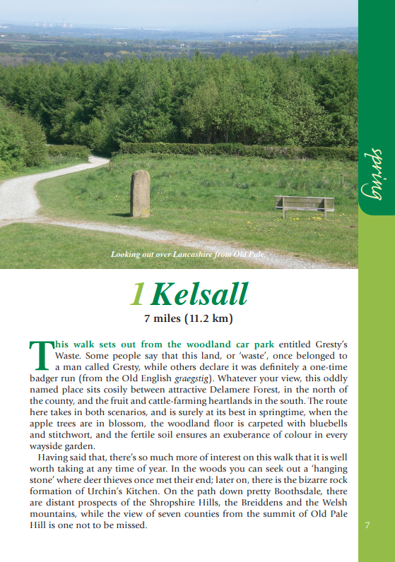 Cheshire Year Round Walks Kelsall spring circular walk