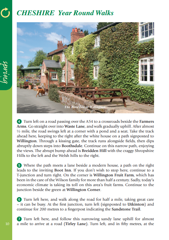 Cheshire Year Round Walks The Boot Inn pub at Willington spring walk